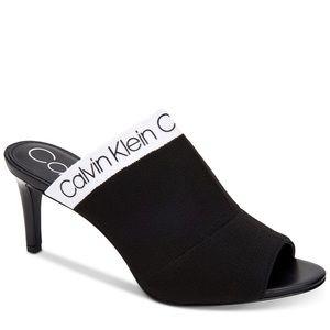 NWT Calvin Klein coraline stretch knit sandals